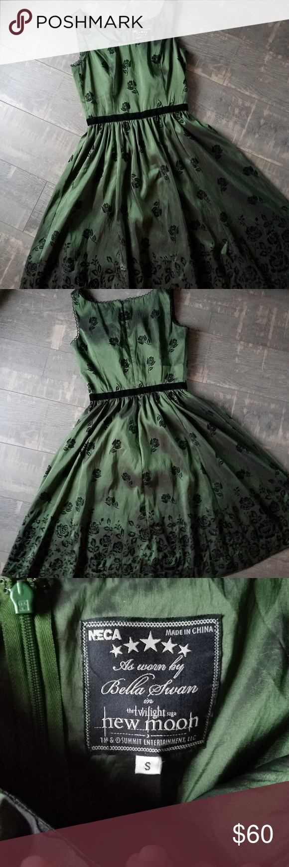 Twilight New Moon Bella Green Birthday Dress Birthday Dresses Dress Twilight Dresses [ 1740 x 580 Pixel ]