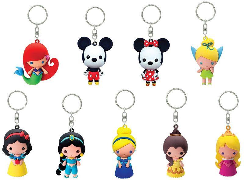 3d Figural Keyring Disney Series 1 Mystery Box 24 Packs