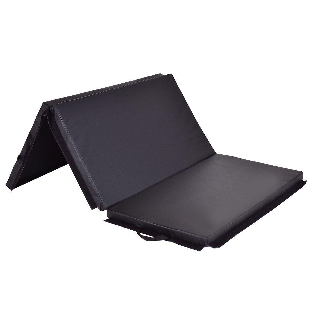 "Folding Exercise Mat 2/"" High Density Tri-Fold Gymnastics  Mats Fitness Exercise"