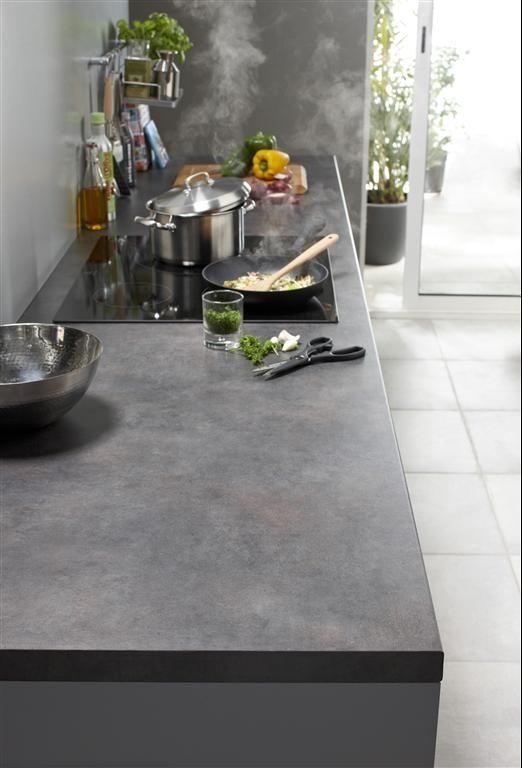 Grey Kitchen Cuisine En Camaieu De Gris Concrete Plan De Travail Cuisine Cocinas Et Decoracion De Unas