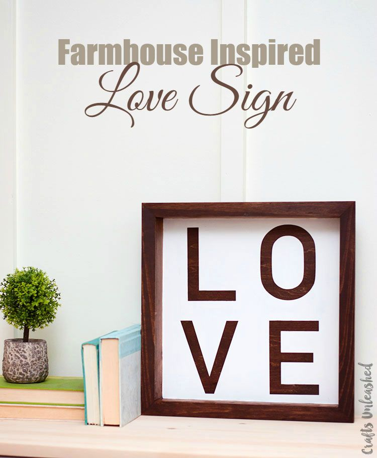 Love Decor Signs New Diy Love Sign Farmhouse Inspired  Consumer Crafts  Craft Craft Design Ideas