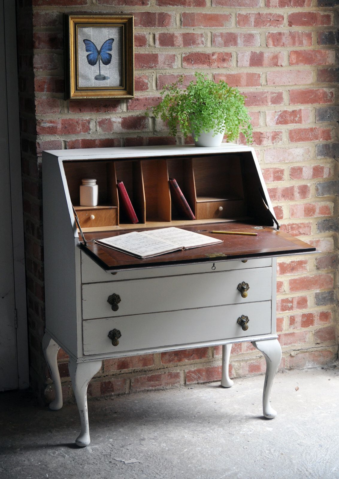 Refurbished Vintage Writing Bureau We Refurbish Furniture And Always Have A Changing Stock Of Unique One Off Pieces