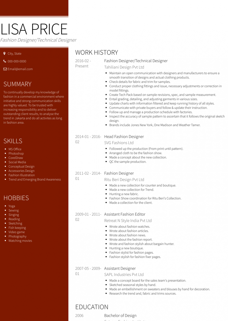 14 Resume Format For Fresher Textile di 2020