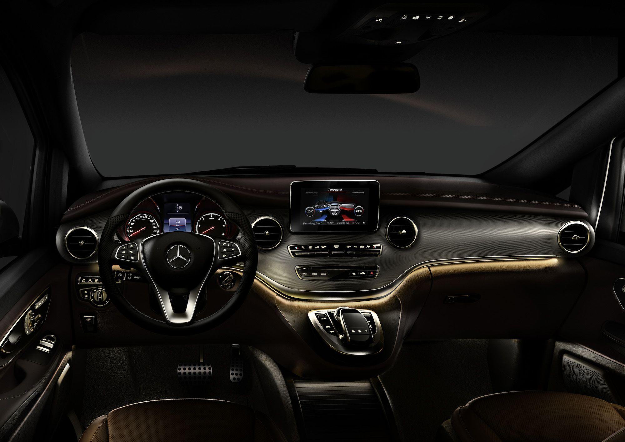 Mercedes benz new v class w447 interior revealed mbhess for Mercedes g interno
