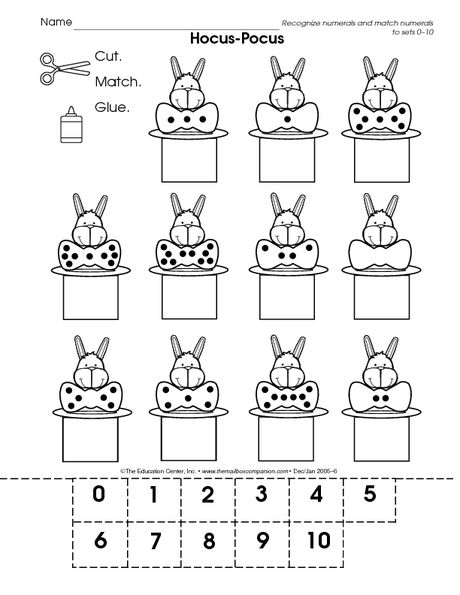 counting and matching numbers 1 10 numbers mailbox math worksheets numbers 1 10. Black Bedroom Furniture Sets. Home Design Ideas