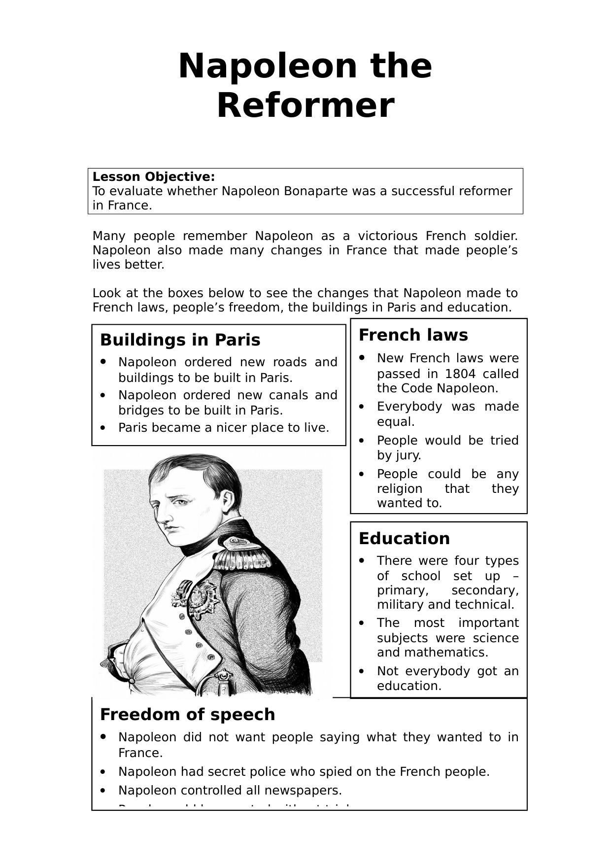 small resolution of 7th Grade World History Worksheets   French revolution history