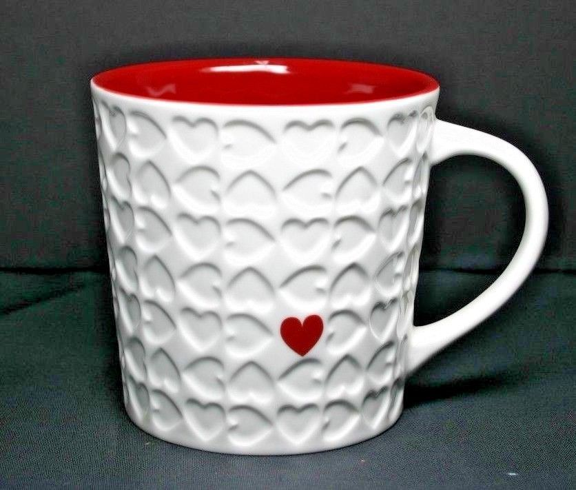Charming Starbucks Coffee Mug 2007 Love Valentineu0027s Day Impressed U0026 Embossed Heart  16 Oz #Starbucks