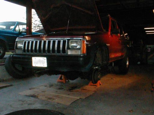 Cherokee On Jack Stands Be Careful Jeep Cherokee Xj Jack Stands Jeep Cherokee