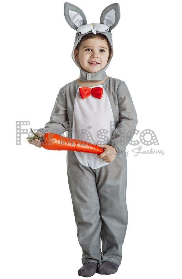 d6feeb86 Disfraz para Niño y Niña Conejo Gris | disfraces | Disfraz de conejo ...