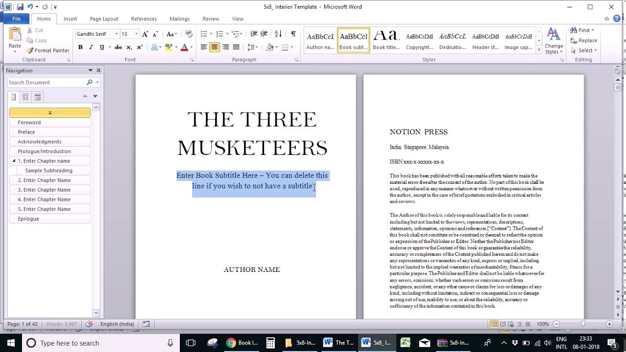 how to make a booklet in word document