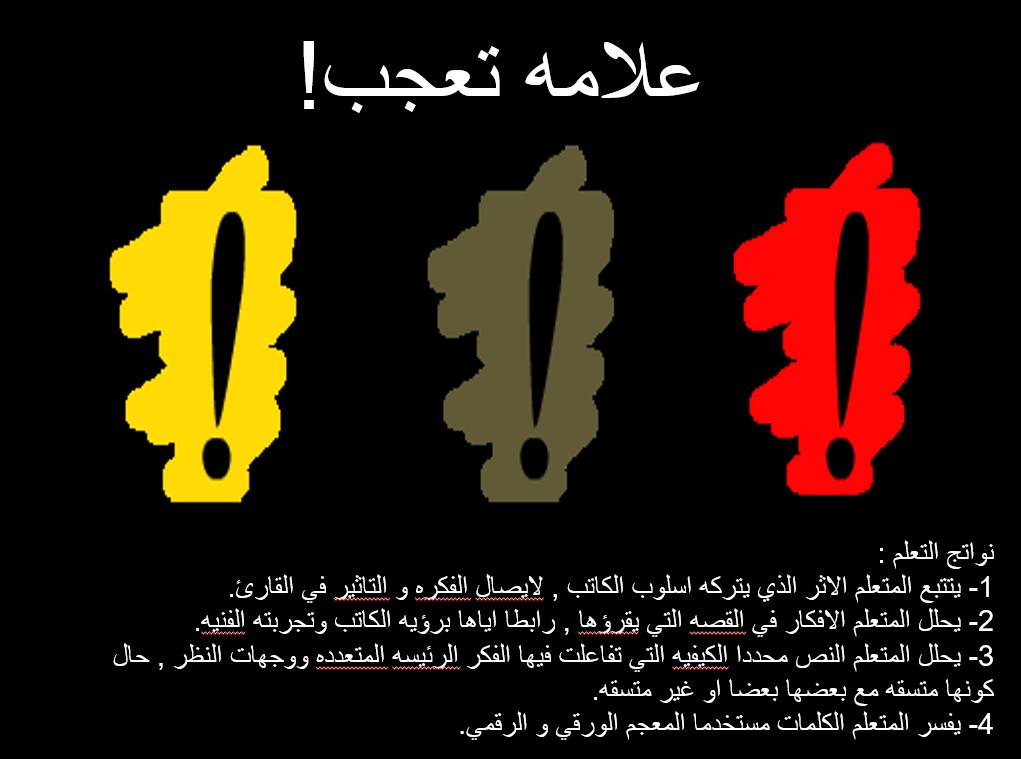 بوربوينت درس علامة التعجب للصف الثاني عشر مادة اللغة العربية Movie Posters