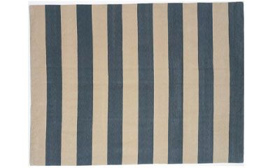Blue White Striped Rug 2 X 3 75 3 6 X 5 6 200 6