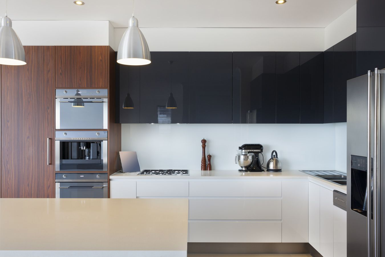 Keukenkast Zonder Greep : Corian werkblad moderne keuken zonder greep home