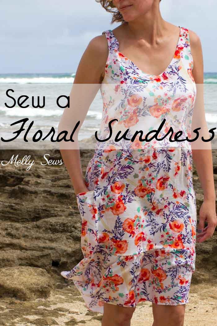 Floral Sundress with Free Pattern   Nähen schnittmuster, Nähen und ...