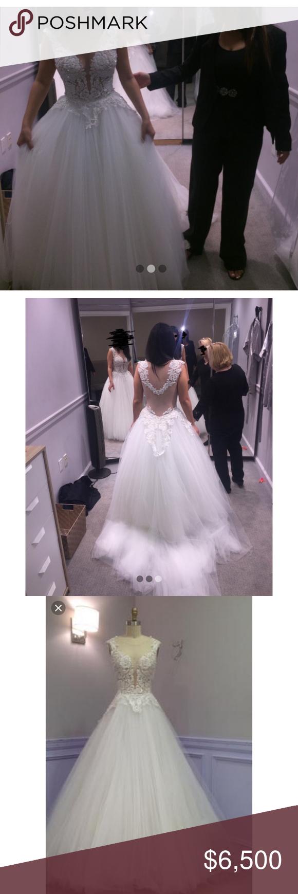 Pnina Tornia Wedding Dress Ball Gown Size 200/20   Ball gown wedding ...