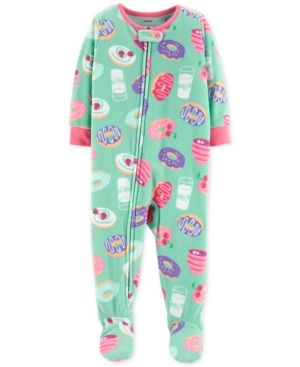 60f210736 Carter s Toddler Girls Donut-Print Footed Pajamas - Multi 3T ...