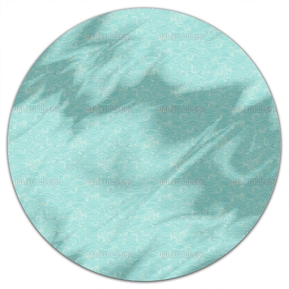 Uneekee Lagoon Swell Round Tablecloth