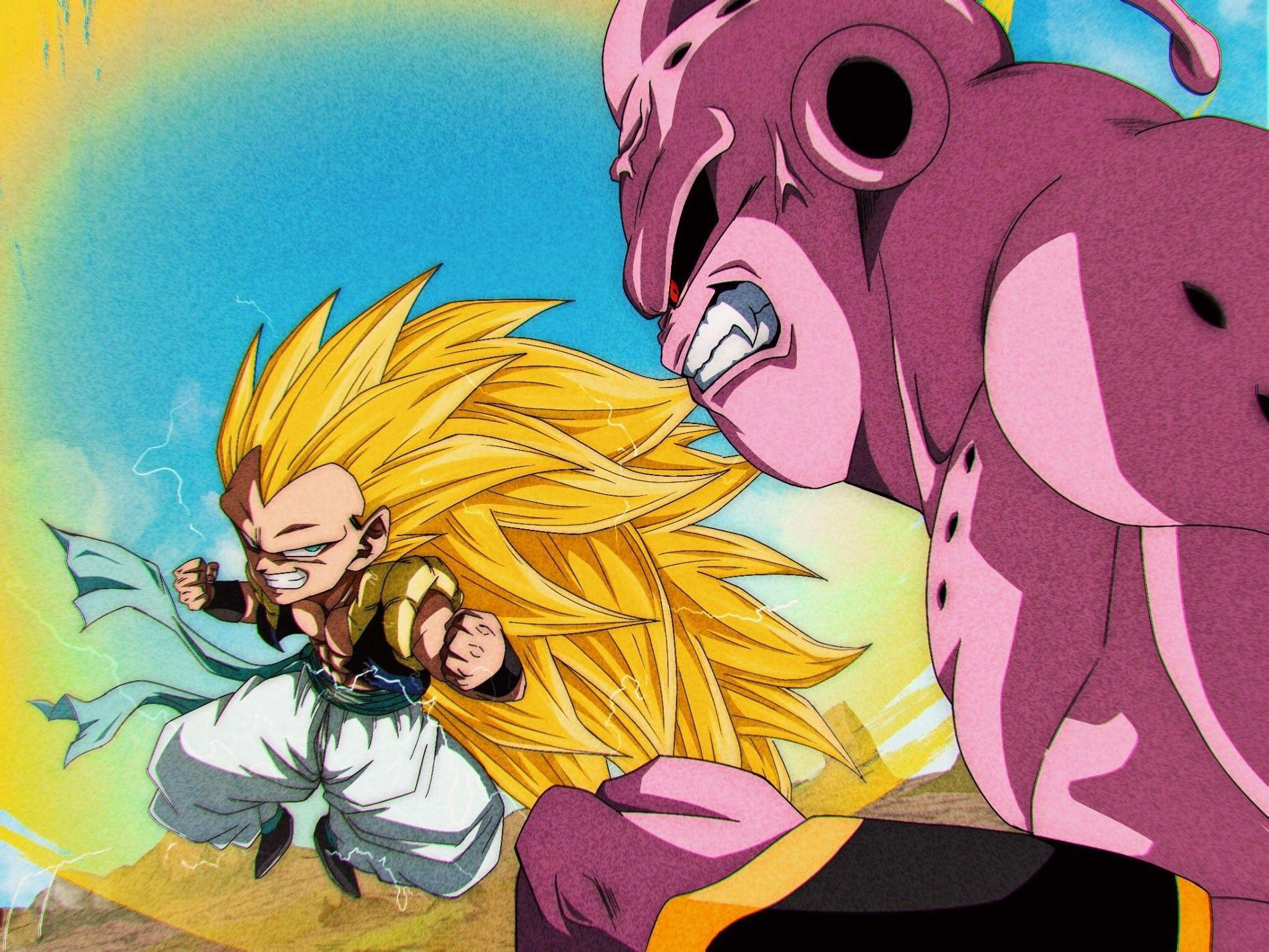 Gotenks Vs Super Buu By N A M76 Dragon Ball Goku Anime Dragon Ball Dragon Ball Art
