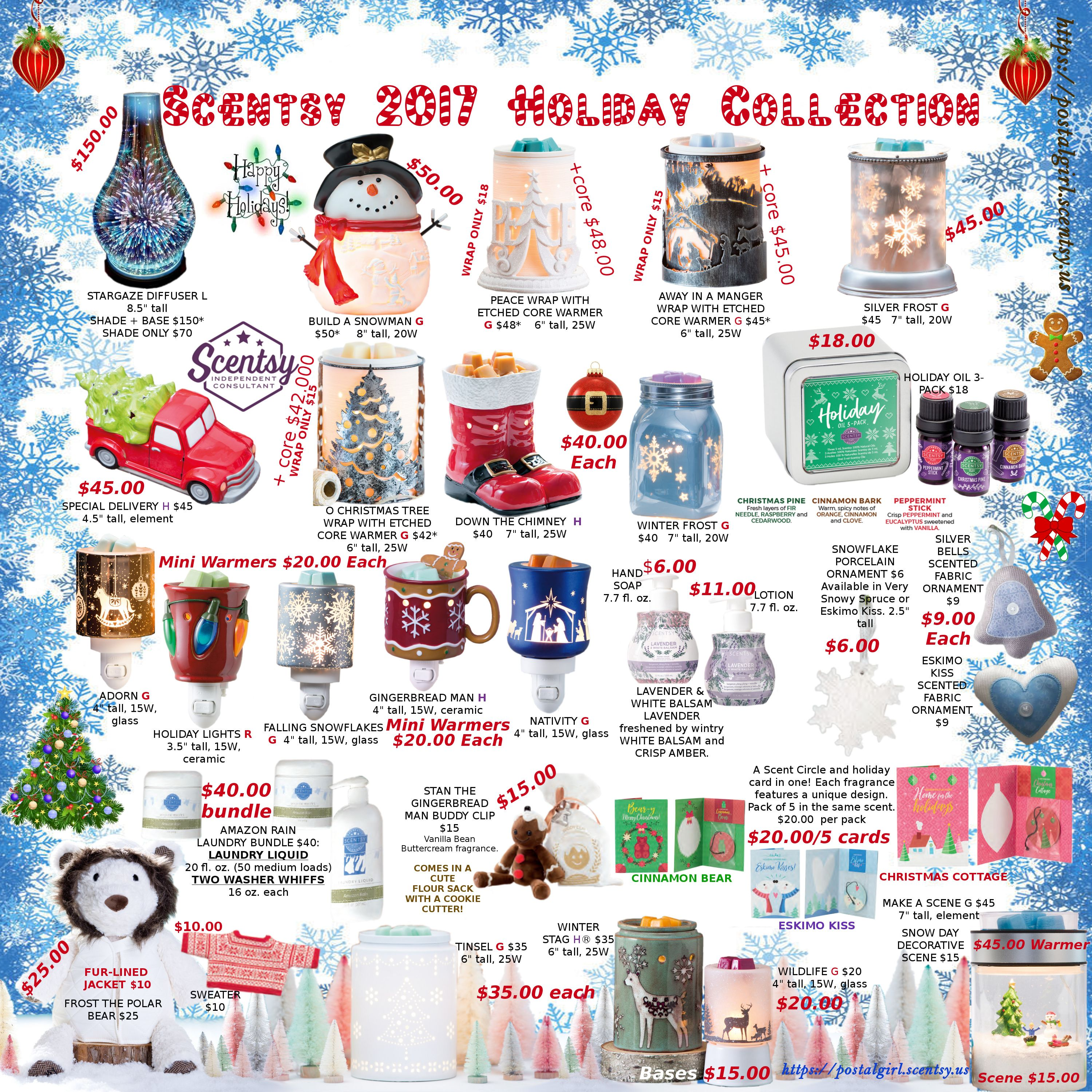 Scentsy 2017 Holiday collection flyer. Products available October 1 ...