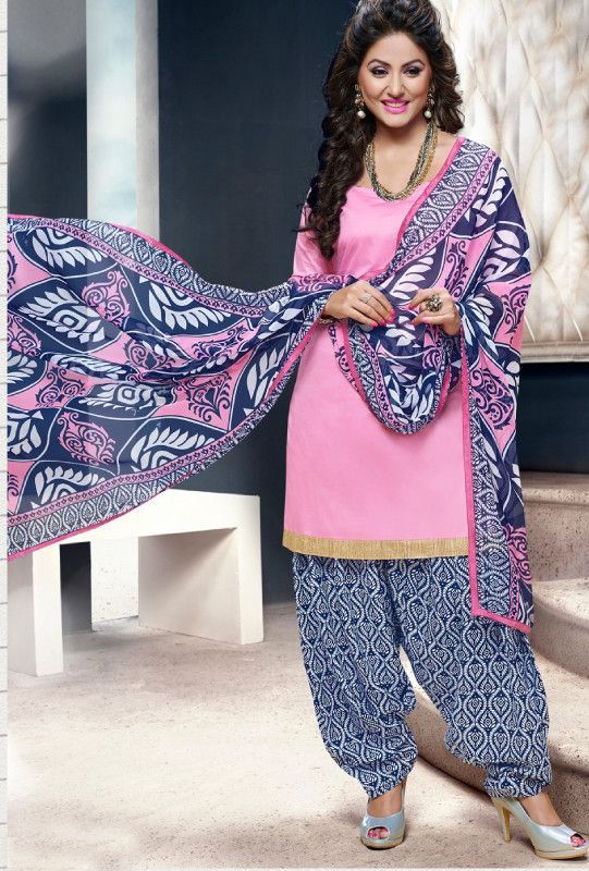 Pink Blue Cotton Suit - Desi Royale | indian women suit ...
