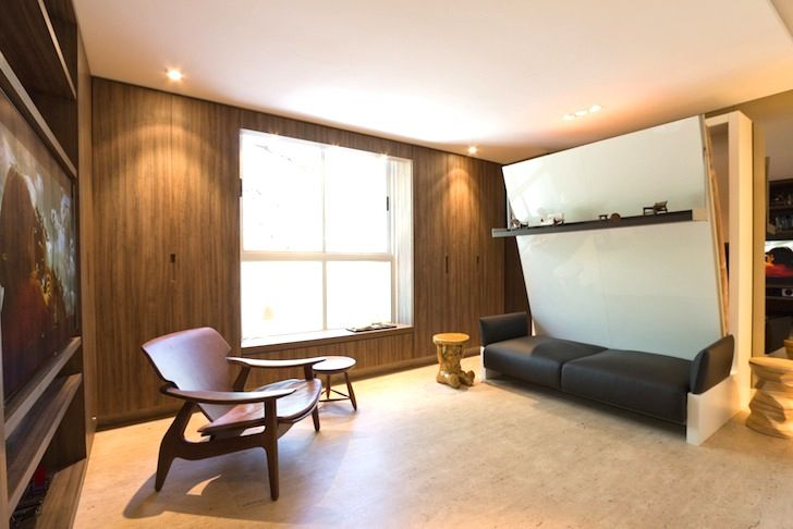 multifunction furniture small spaces. Tiny 290-Sq.-Ft. Studio Boasts A Genius Collection Of Space- Multifunction Furniture Small Spaces