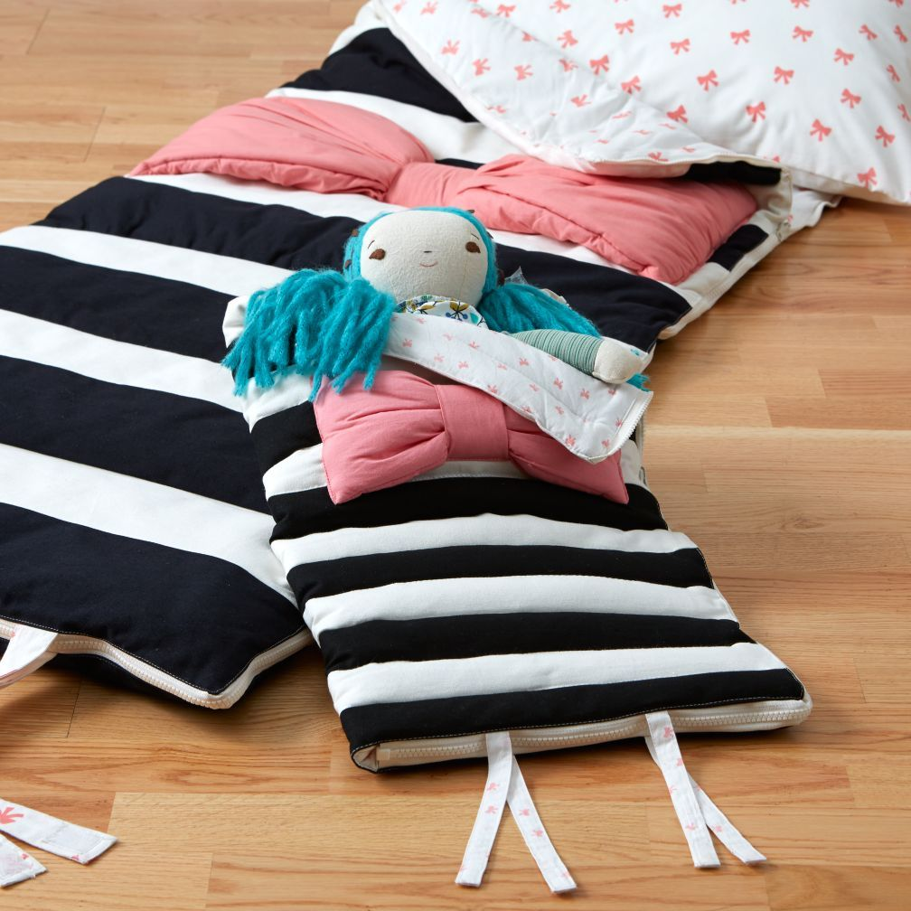 Candy bow sleeping bag for kids crate and barrel kids