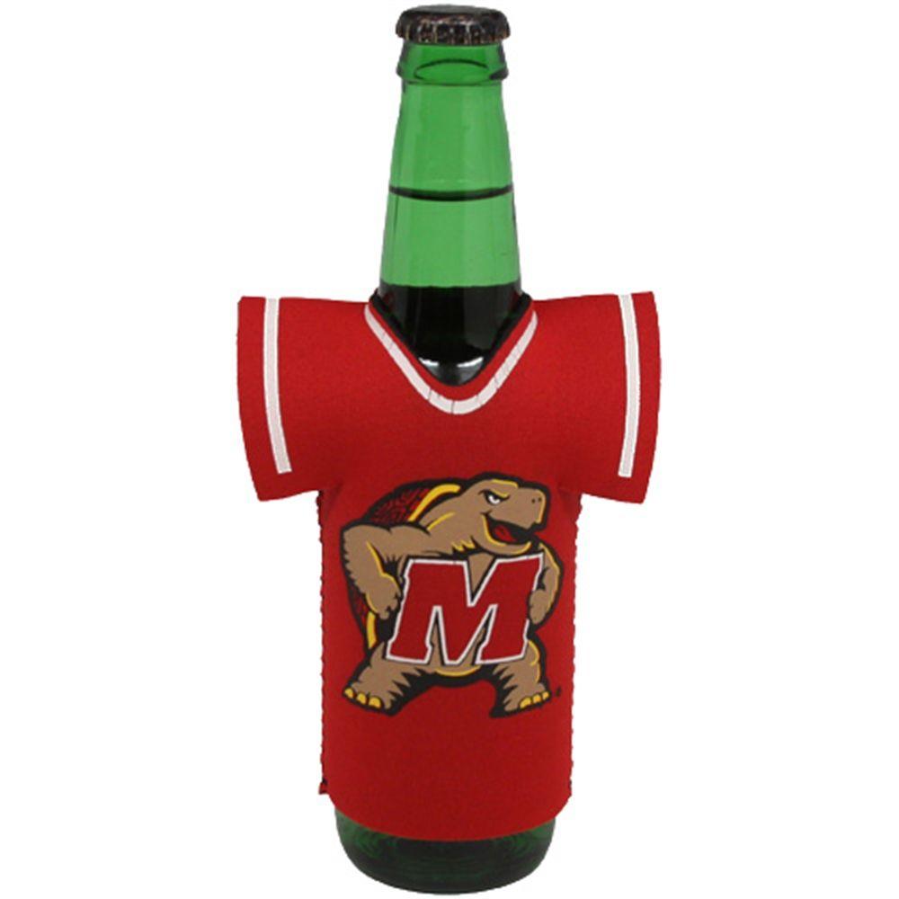 Maryland Terrapins New Bottle Jersey Koozie Red Maryland Terrapins Terrapins Jersey