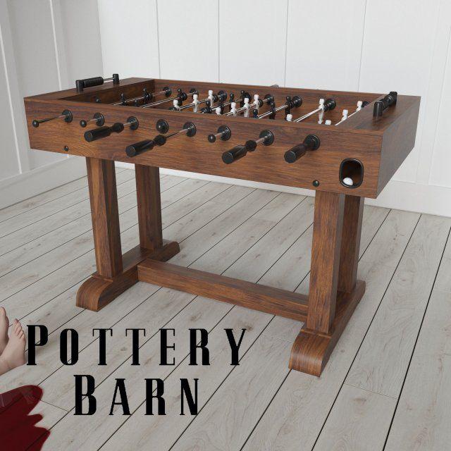 POTTERY BARN FOOSBALL TABLE 3D Model .max .c4d .obj .3ds .fbx