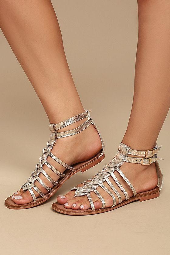 ba280acca62  Lulus -  Lulus Naughty Monkey Boardwalk Gold Leather Gladiator Sandals -  AdoreWe.com