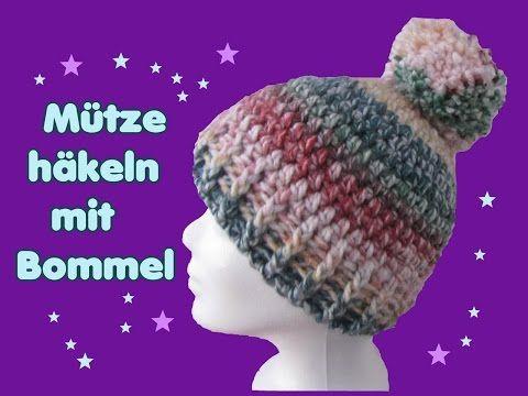 Mütze Häkeln Im Reliefmuster Tricolor Youtube Mützen Crochet