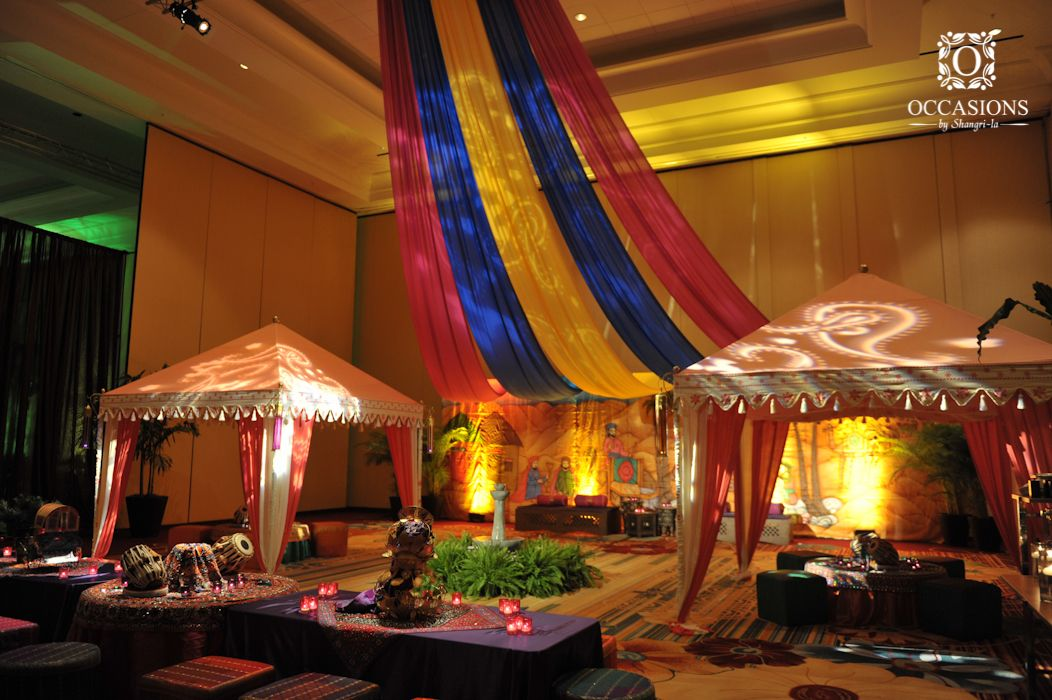 Sangeet garba mehndi decor occasions by shangri la