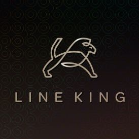 Line King by Nancy Carter Design. A strong logo made from one continuous line.