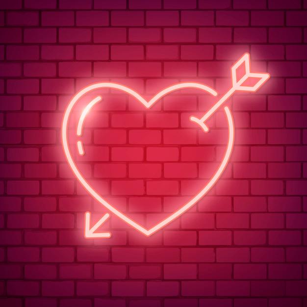Download Neon Love Illustration For Free Neon Neon Wallpaper Vector Free
