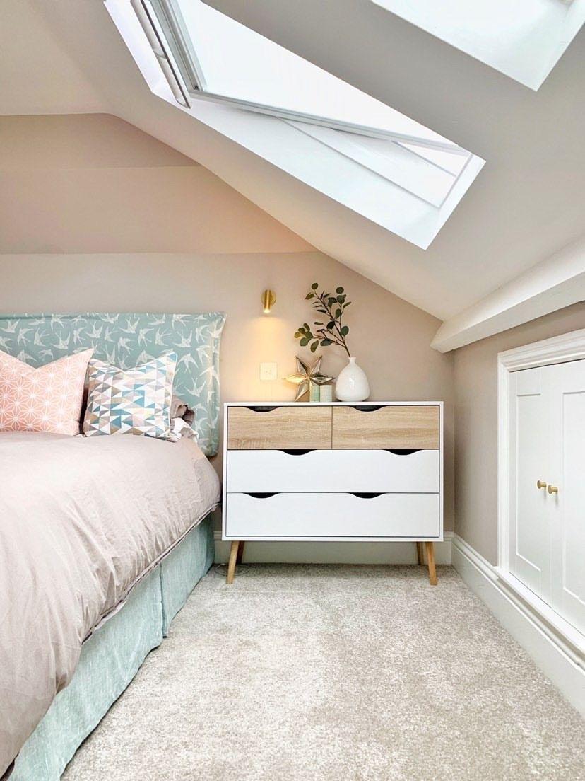 Schlafzimmer Mit Dachschrage Schlafzimmer Dekoration En 2020