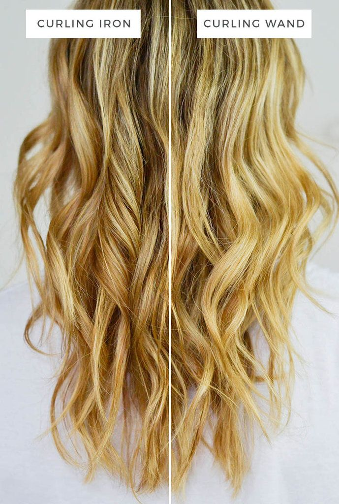 The Real Difference Between A Curling Wand And A Curling Iron Curling Iron Hairstyles Wand Hairstyles Wand Curls
