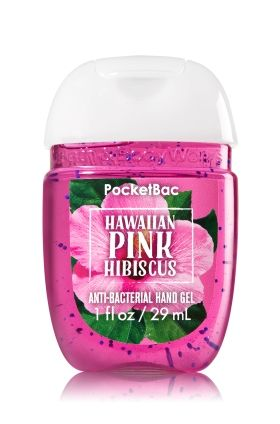 Hawaiian Pink Hibiscus Pocketbac Sanitizing Hand Gel Bath