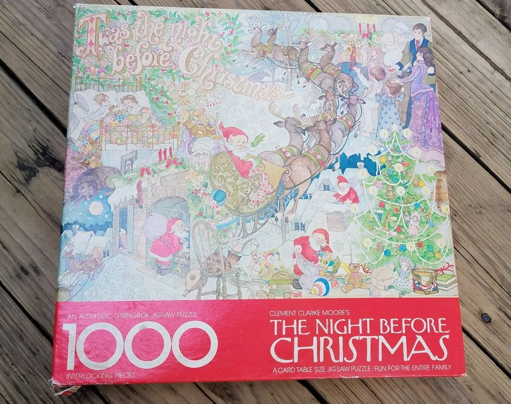 Details about Vintage Springbok 1000 Piece Puzzle THE NIGHT BEFORE ...