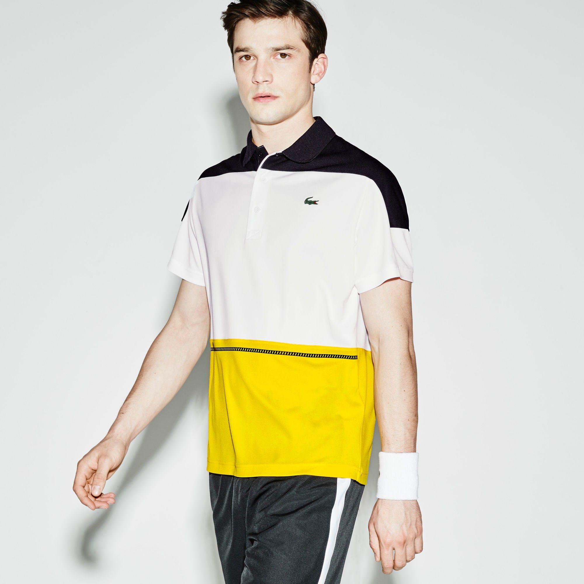 Lacoste Men S Sport Ultra Dry Color Block Tennis Polo Shirt Black White Jonquille Modesens Polo Shirt Outfit Women S Shirt Outfit Women Polo Tee Shirts