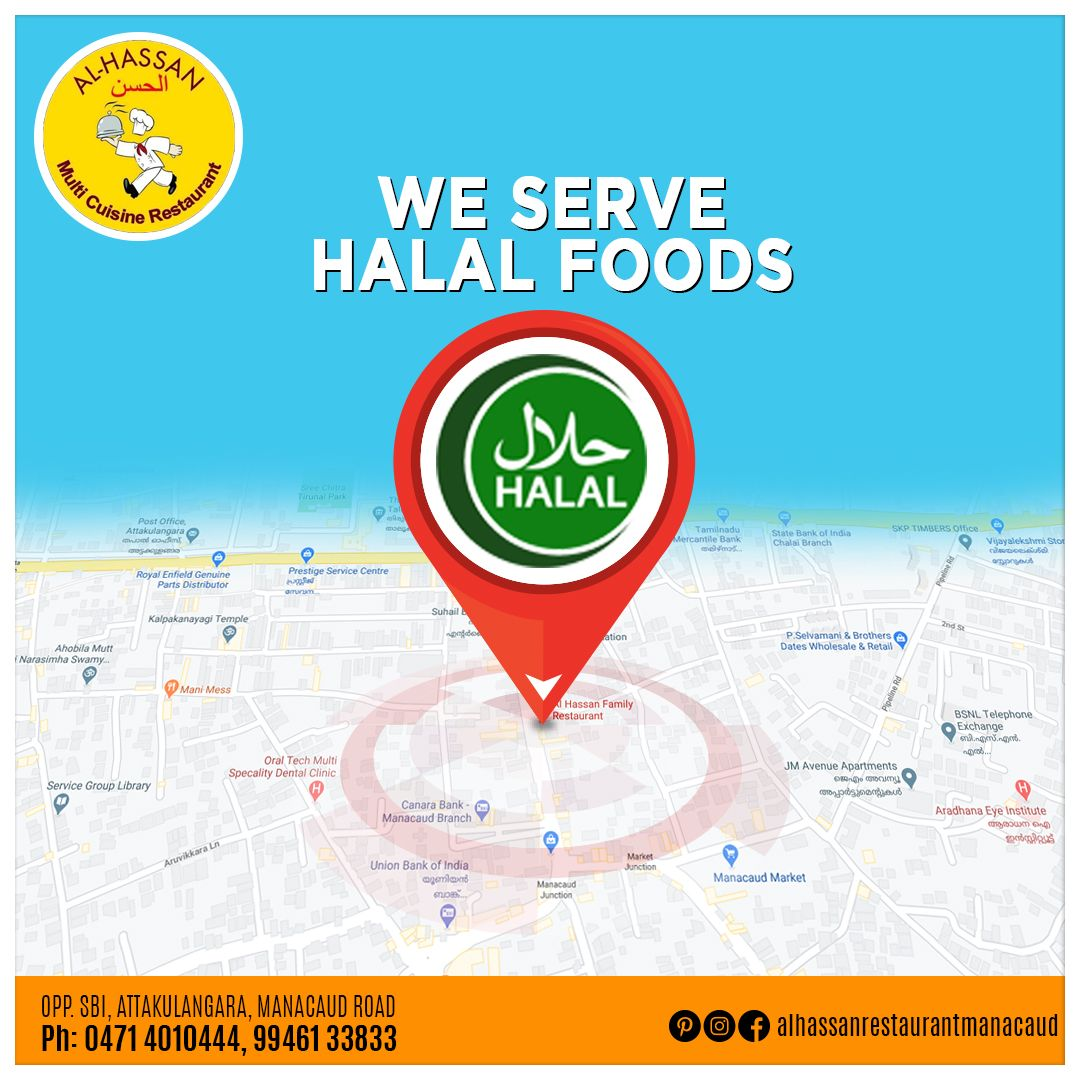 Al Hassan Restaurant, customer's No.1 choice for budget-friendly Arabian & Indian delicacies. We serve 100% halal meat.  Contact Us :- Opp. SBI, Attakulangara, Manacaud Road Ph :- 0471 4010444 | 9946133833  #AlHassanRestaurant #MultiCuisineRestaurant #BudgetFriendlyHotel #IndianDelicacies #HalalMeat #halal #halalfood #100halal #foodlovers #tastyfood #familydining #healthyfood #EatAtTrivandrum