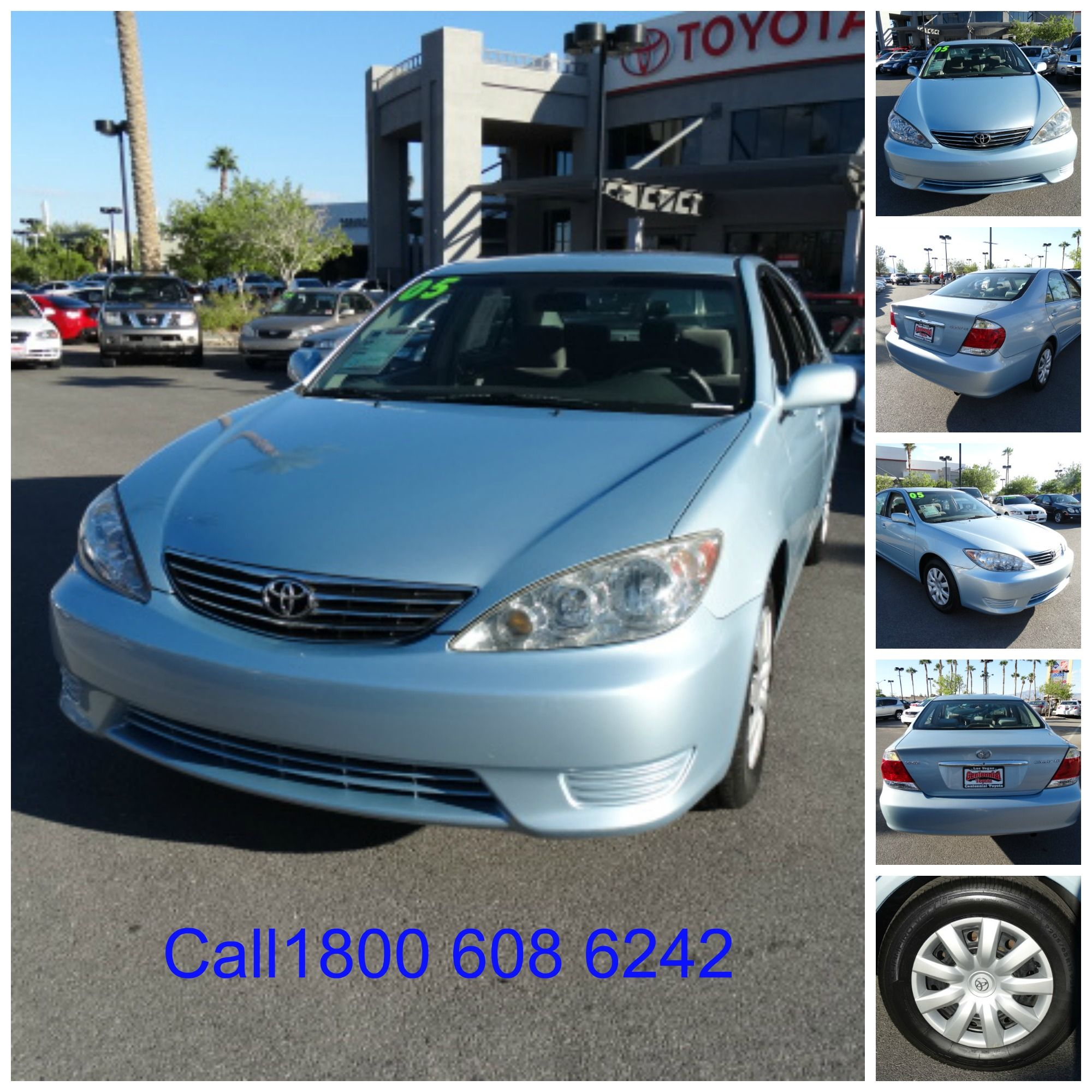 Used car 2005 Toyota Camry LE Sedan 4D for sale, Color Blue