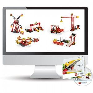 legostem:  WeDo Construction Set - easy curriculum for elementary teachers and students to experience work in Science, Technology, Engineering and Mathematics.  The activities are grouped in Theme