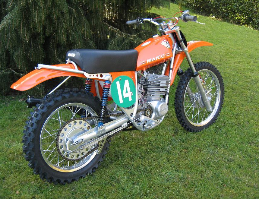 A Beautifully restored Maico 250 Motocross Bikes, Vintage Motocross, Sport  Bikes, Tracker Motorcycle