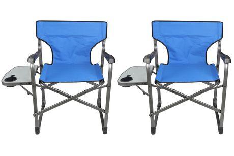 Peachy Ozark Trail Ozark Trail Outdoor Director Chair 2 Pack Blue Ibusinesslaw Wood Chair Design Ideas Ibusinesslaworg