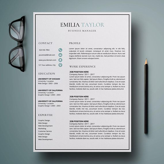 Professional Business Resumes Professional Resume Template Word  Cv Template Word  Creative .