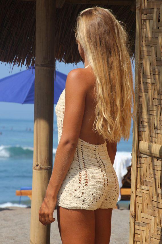 4e1bbc2f2c Pijama corto traje corto de playa ganchillo por EllennJames en Etsy ...