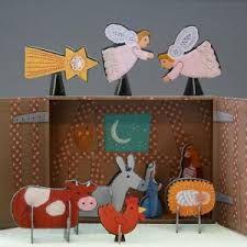 Risultati immagini per idee per presepi fatti in casa cardboard pinterest nativity - Presepi fatti in casa ...