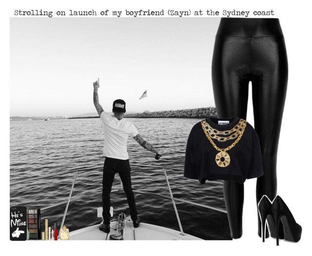 """Strolling on launch of my boyfriend (Zayn) at the Sydney coast"" by giovannacarlamalik ❤ liked on Polyvore featuring River Island, Moschino, Boohoo, Giuseppe Zanotti, Yves Saint Laurent, Topshop, NARS Cosmetics and David Yurman"
