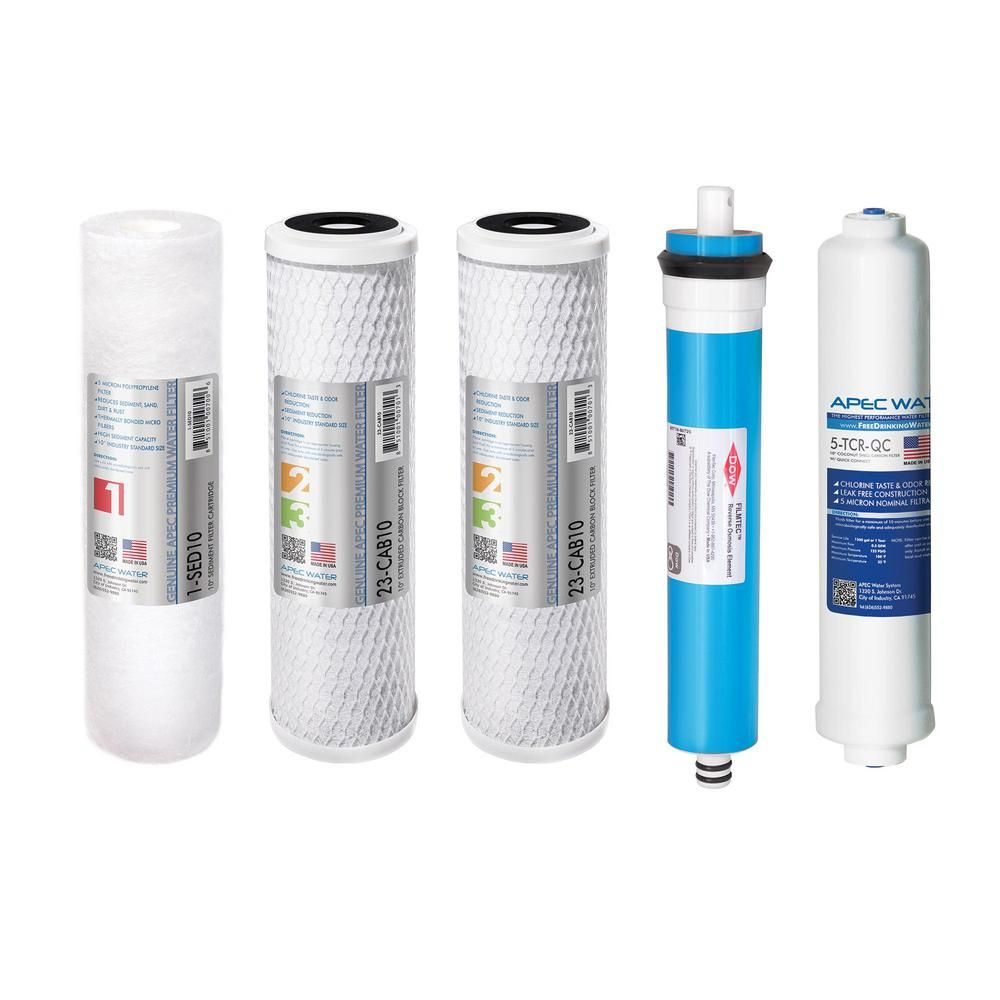 Apec Water Systems Ultimate Complete Replacement Filter Set For 90 Gpd High Flow 5 Stage Systems Reverse Osmosis Water Filter Reverse Osmosis Water Water Filter