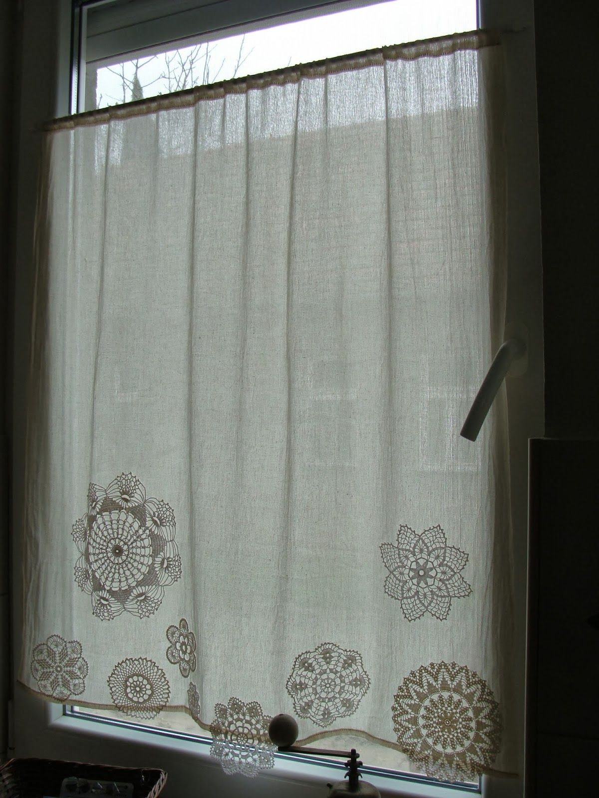Visillos Cortinas Cocina Handmade From Ladolli Doily Curtain Декор Pinterest