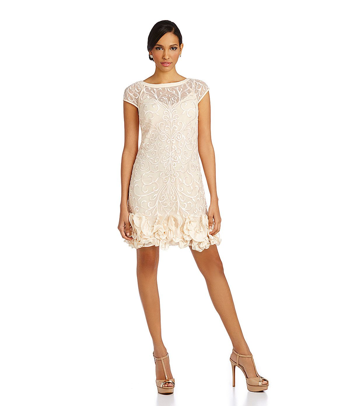 1dc80b385b Jessica Simpson Embroidered A-Line Dress